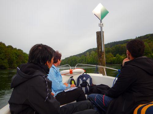 Motorboot auf dem Hochrhein