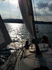 Segelkurs vor Horn am Bodensee, Untersee