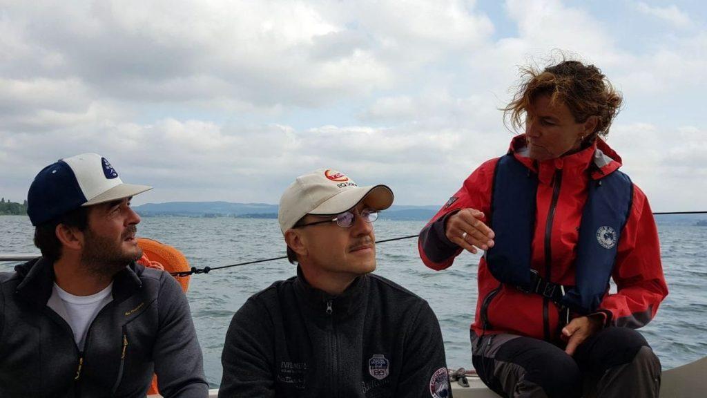 Theorie auf dem Segelboot